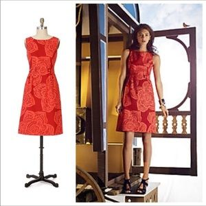 Anthropologie Tabitha Red Floral Romany Dress 4